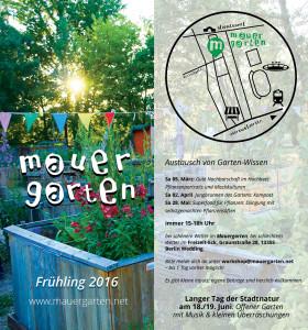 Gartenwissen Workshops Frühling 2016